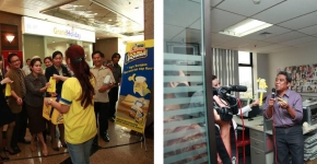 Blue Band – Sari Roti: Sarapan Double Power Office Ambush and Media Visit