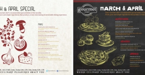 """Gourmet World March-Apil Special Promo Poster 2013"""