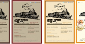 """Gourmet World Lunch Express Promo Poster 2013"""