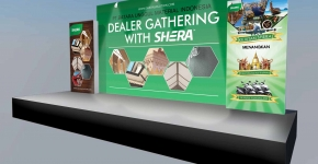 """Stage Backdrop Shera Dealer Gathering 2014"""